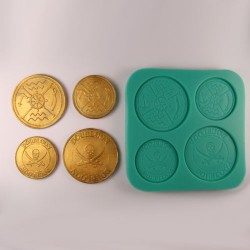 Piratpengar, silikonform