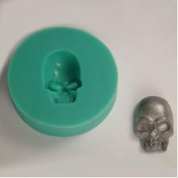 Dödskalle liten, silikonform