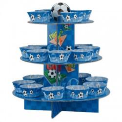 Fotboll, muffinsformar, picks och muffinsträd