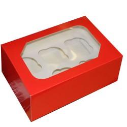 Cupcake askar, 2 st röd (blank)