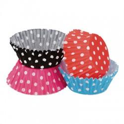 Pink Polka Dots, 100 st rosa muffinsformar