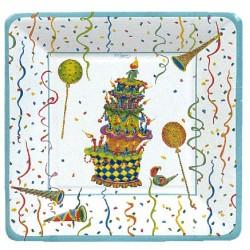 Birthday Celebration, 8 st tallrikar