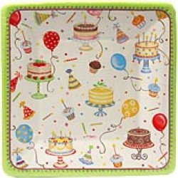 Birthday Cakes, 8 st tallrikar