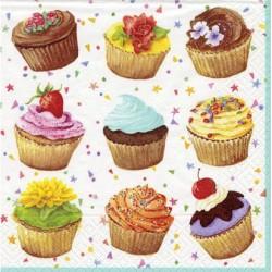 Cupcakes, 20 st servetter