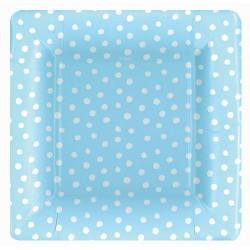 Baby Blue Polka Dots, 8 st tallrikar