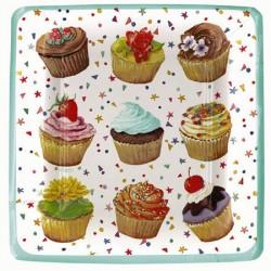 Cupcakes, 8 st tallrikar