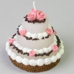 Bröllopstårta, stort figurljus