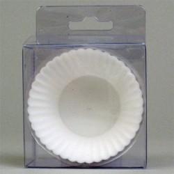 Muffinsformar, 6 st vita (silikon)