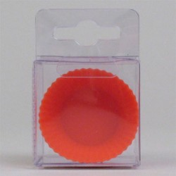 Röda muffinsformar, 8 st små (silikon)