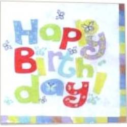 Happy Birthday, 20 st servetter