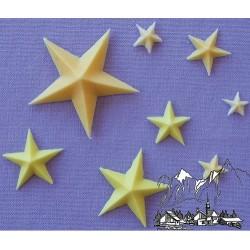 Stjärnor (8 storlekar), silikonform