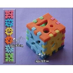 Byggkub (3D), silikonform