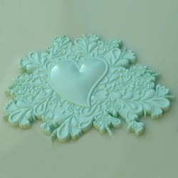 Heart Cake Topper, silikonform