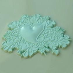 Heart Cake Topper, silikonform