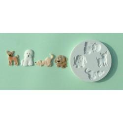 Hundar (4 olika), silikonform