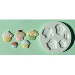 Cupcakes (5 st), silikonform