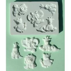 Babydjur (5 olika), silikonform
