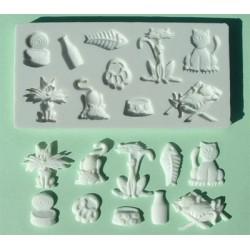 Kattmotiv (10 olika), silikonform