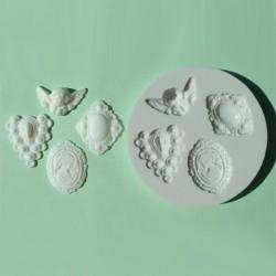 Cameo (4 st), silikonform