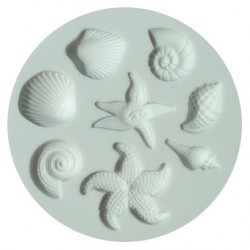 Snäckor (8 olika), silikonform