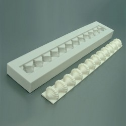 Mönstrad pärlbård, silikonform