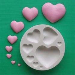 Hjärtan (8 storlekar), silikonform