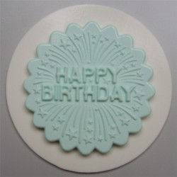 Happy Birthday Cupcake Topper, silikonform