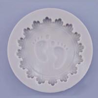Babyfötter, cupcake-lock (silikonform)