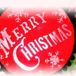 Merry Christmas, schablon