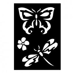 Fjäril o trollslända, schablon