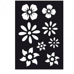 Blommor, schablon