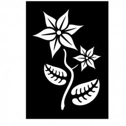 Blomma på stjälk, schablon