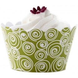 Circles (vit/lime), cupcake wraps