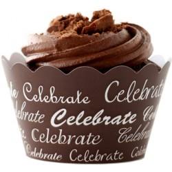 Celebrate (vit/brun), cupcake wraps