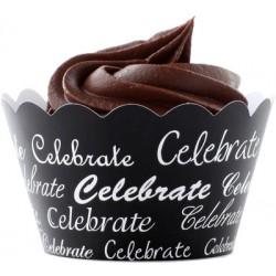Celebrate (vit/svart), cupcake wraps