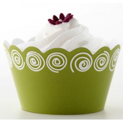 Topsy circle (vit/lime), cupcake wraps