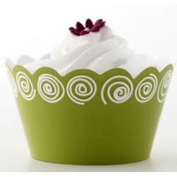 Topsy circle (vit/lime), cupcake wraps