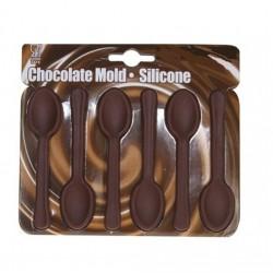 Teskedar, chokladform (silikon)