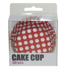 Red XL Dots, 50 st muffinsformar