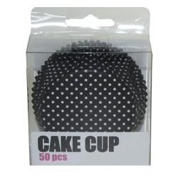 Black Polka Dots, 50 st muffinsformar