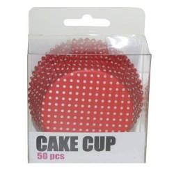 Red Polka Dots, 50 st muffinsformar