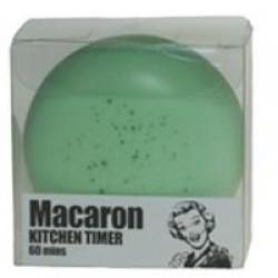 Macaron, grön kökstimer