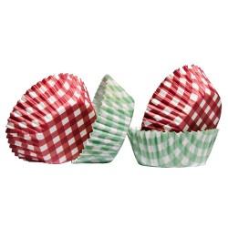Gingham, 60 st muffinsformar