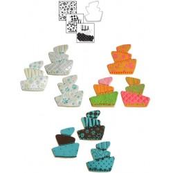 Lutande tårta, utstickare o mönster