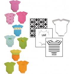 Babybody utstickare och mönstermattor