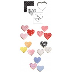 Hjärta, utstickare o mönster