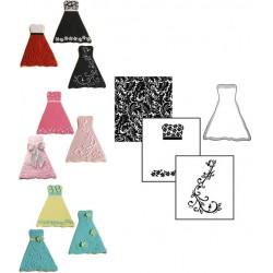 Klänning, utstickare och mönster