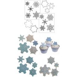 Snöflingor, utstickare o mönster