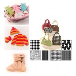 Textilier (tyg), 6 st mönstermattor