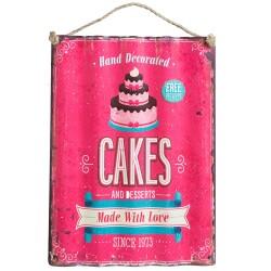 Cakes, vågig plåttavla